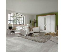 Stilo - Białe drewniane łóżko do sypialni
