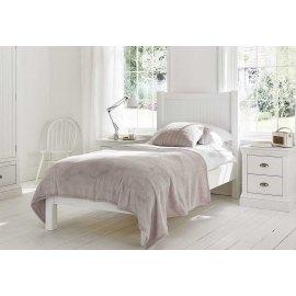 Białe łózko do sypialni 100 x 200 - Molis