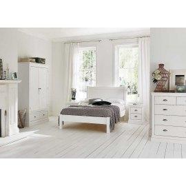 Białe łóżko 160 x 200 cm Molis