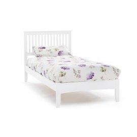 Białe drewniane łóżko - Deko