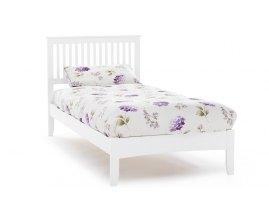 Deko - Białe drewniane łóżko