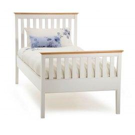 Biale łóżko do sypialni - Aster