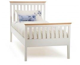 Aster - Białe łóżko do sypialni