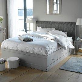 Łóżko z szufladami do sypialni Blog