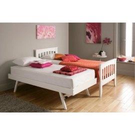 łóżko drewniane z szufladą do spania - Alpina