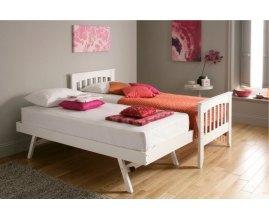 Alpina - łóżko drewniane z szufladą do spania