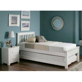 Łóżko Amara z dodatkowym materacem w szufladzie