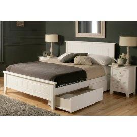 łóżko drewniane białe 160x200 - Begonia