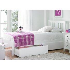 białe łóżko do sypialni z pojemnikiem - Iberis