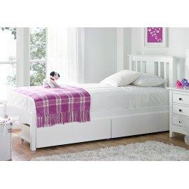 białe łóżko do sypialni z szufladami - Iberis