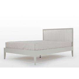 Drewniane łóżko w kolorze szarym - Florencja