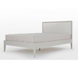 Florencja - Drewniane łóżko w kolorze szarym