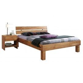 Łóżko z litego drewna dębowego Mezo
