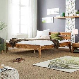 Nowoczesne łóżko dębowe Bergen