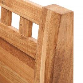 Łóżko do sypialni z drewna dębowego Sara