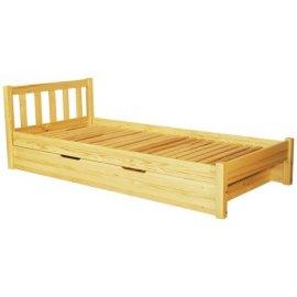 Łóżko sosnowe z pojemnikiem Lulu II