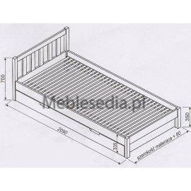 Wymiary łóżka Lulu II