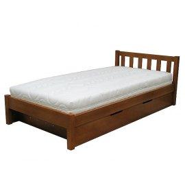 Sosnowe łóżko ze schowkiem na pościel Lulu II