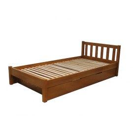 Drewniane łóżko z pojemnikiem na pościel Lulu II