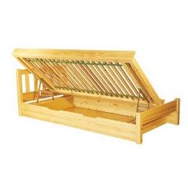 Drewniane łóżko z pojemnikiem Lulu II