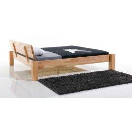 Drewniane łóżko dla dwóch osób Cliper