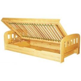 Łóżko drewniane z pojemnikiem na pościel Uno II