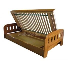 Łóżko z duzym pojemnikiem na pościel Uno II