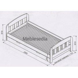 Wymiary sosnowego łóżka Uno II