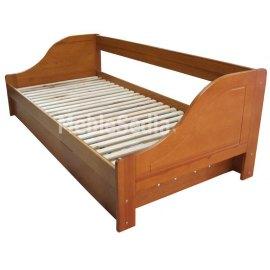 Drewniane łóżko z pojemnikiem Maro