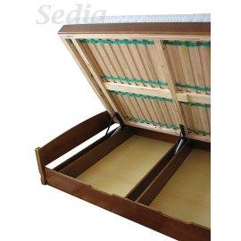 Łóżko z dużym pojemnikem na pościel Emilio II