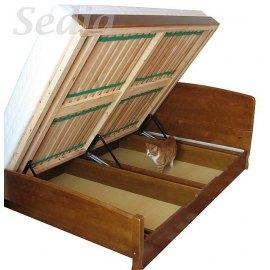 Drewniane łóżko z pojemnikiem Emilio II