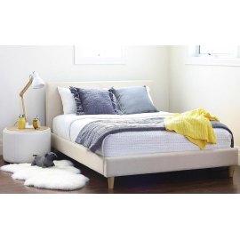 Tapicerowane łóżko w stylu skandynawskim Carlo