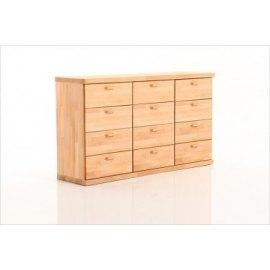Drewniana komoda z 12 szufladami