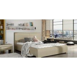 Nowoczesne łózko tapicerowne do sypialni Samba