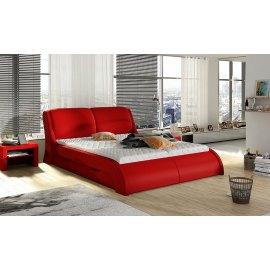 Łóżko tapicerowane z szufladami Swing