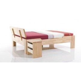 Drewniane łóżko do sypialni Juno