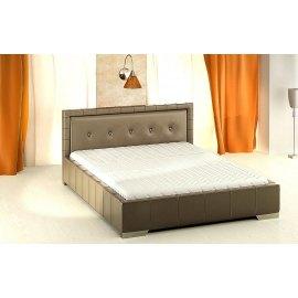 Czarne łóżko z pojemnikiem Kwant