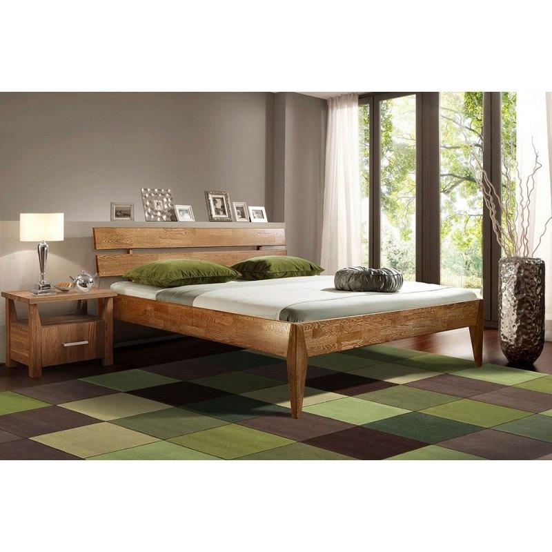 Łóżko podwójne drewniane