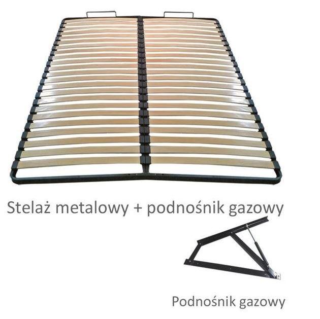 Pojemnik + stelaż metalowy + podnośnik gazowy