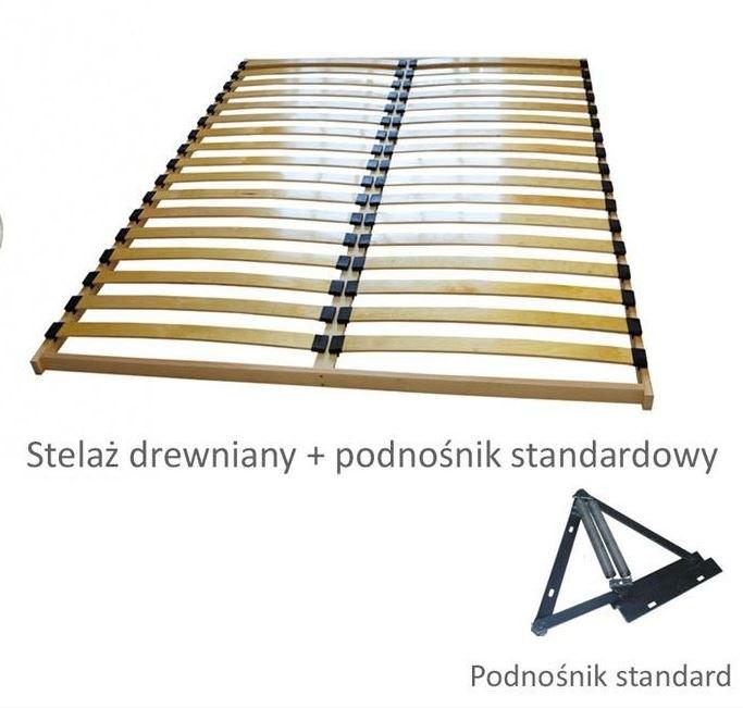 Pojemnik + stelaż drewniany + podnośnik standard