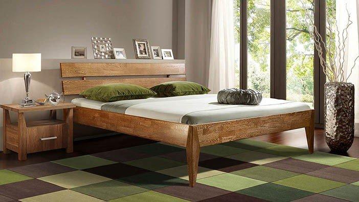 Łóżka dębowe z litego drewna
